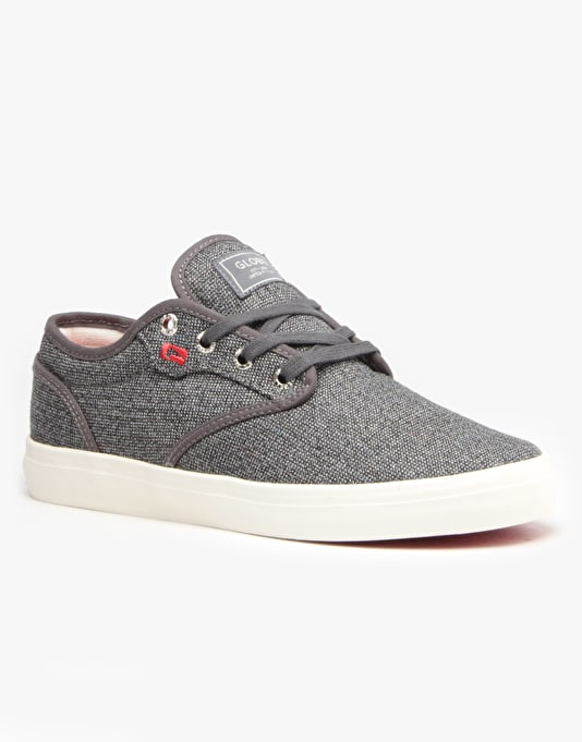 Globe Motley Skate Shoes - Black Tweed/Red