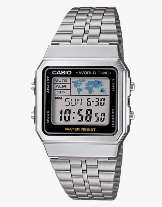Casio A500WEA-1EF Watch - Silver