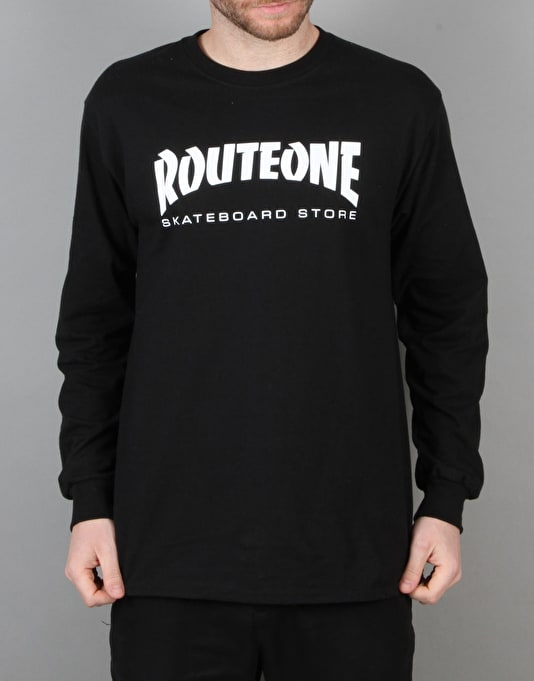 Route One Skate Store LS T-Shirt - Black
