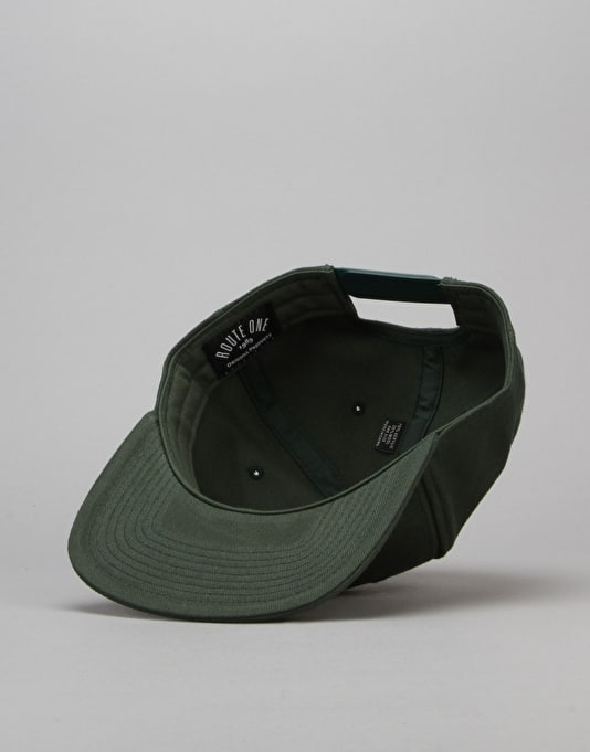 Route One Box Logo Snapback Cap - Forest
