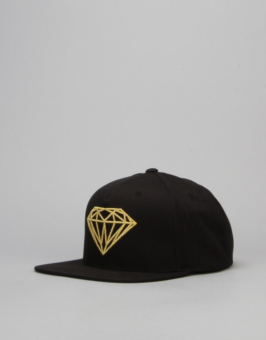 Diamond Supply Co. Brilliant Snapback Cap - Black/Gold