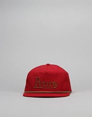 Penny Skateboards Snapback Cap - Red/Brown