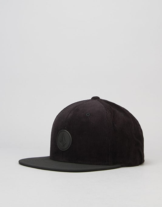 Volcom Quarter Fabric Snapback Cap - Black