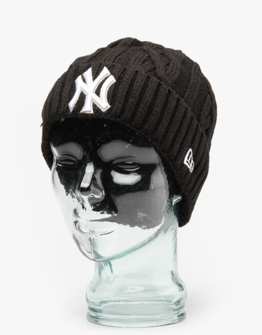 New Era MLB New York Yankees Team Cable Cuff Beanie - Black