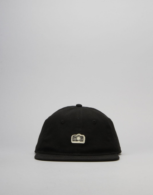 Route One Analogue 6 Panel Unstructured Cap - Black