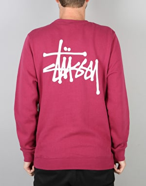Stüssy Basic Stüssy Crew Sweatshirt - Grape