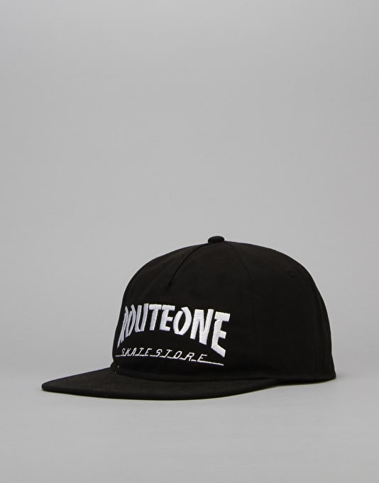 Route One Skate Store Unstructured Cap - Black