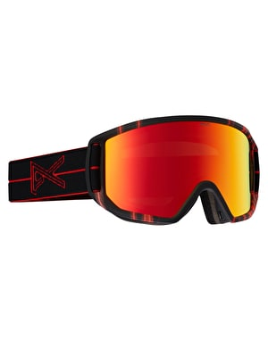 Anon Relapse MFI 2016 Snowboard Goggles - Red Light/Red Solex