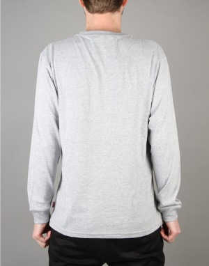 Vans Classic L/S T-Shirt - Athletic Heather/Poseidon