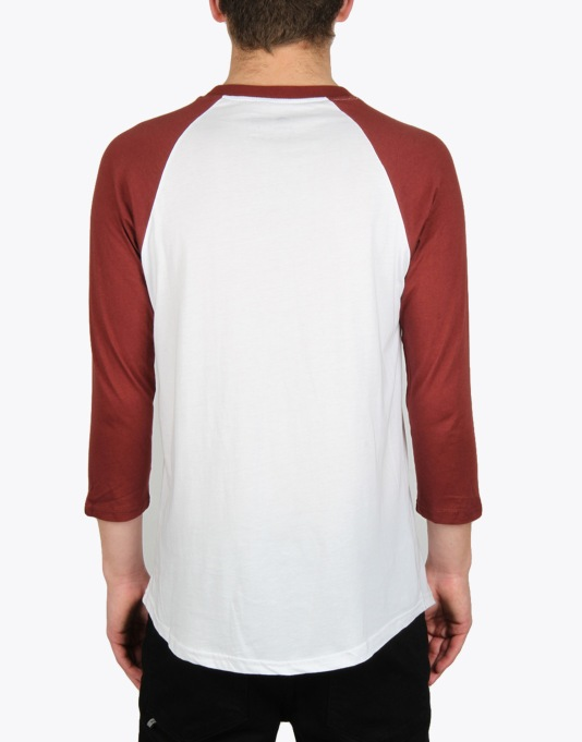 Emerica Combo Rough 3/4 Raglan T-Shirt - Red/White