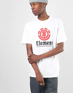 Element Vertical S/S T-Shirt - Optic White