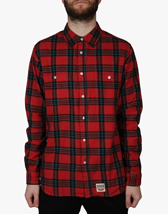 Diamond Supply Co. Ox Flannel L/S Shirt - Red