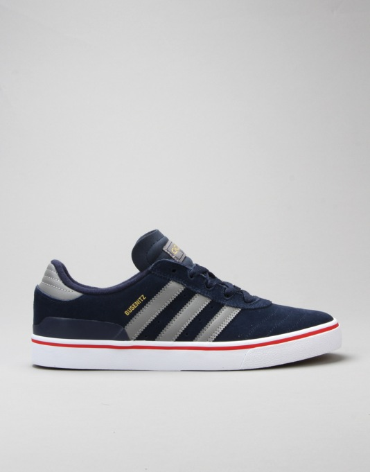 hot sale online 69d85 cd9ff Adidas Busenitz Vulc Skate Shoes - Collegiate NavyGreyScarlet