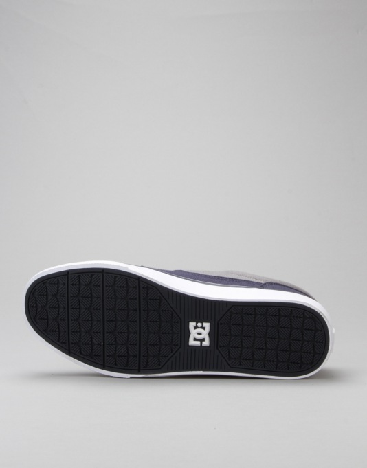DC Tonik TX Skate Shoes - Navy/Grey