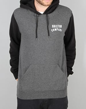 Brixton Woodburn Hood Fleece - Heather Grey/Black