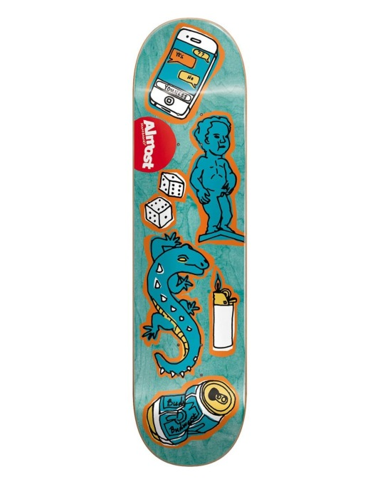Almost Youness Dump Doodle Skateboard Deck - 7.75""