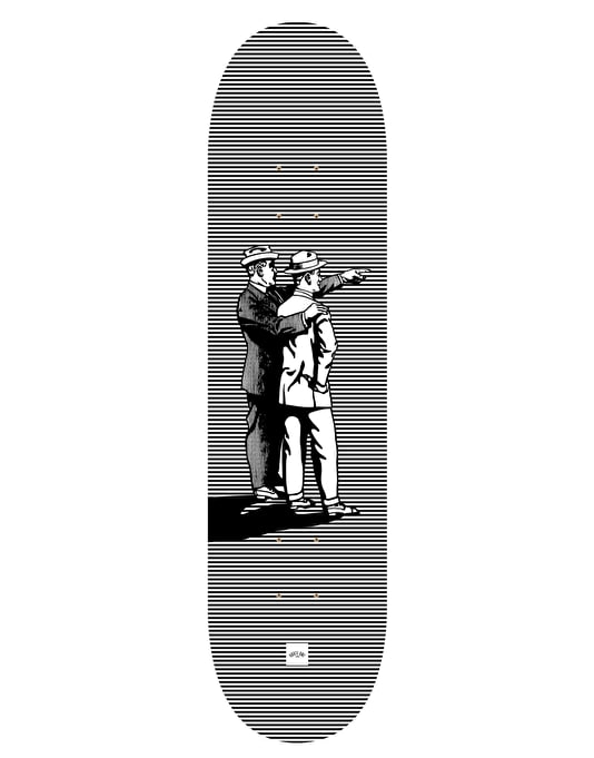 Route One 'Archibald & Albert' Gents Series Skateboard Deck - 8""