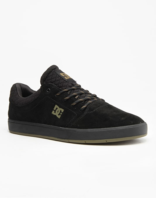 DC Crisis SE Skate Shoes - Black/Olive