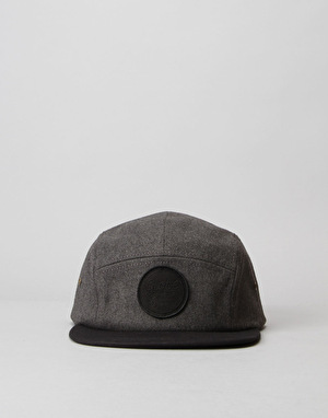 Globe Edward 5 Panel Cap - Black