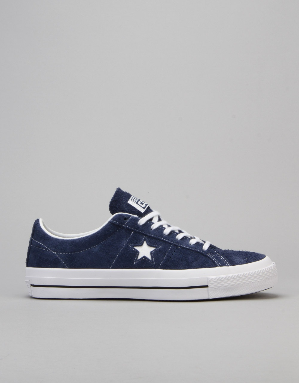 5be01523356 Converse One Star Skate Shoes - Navy White Gum
