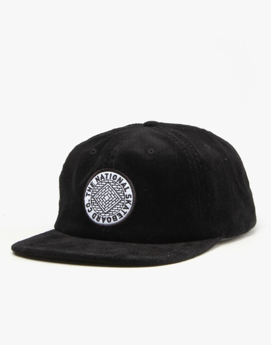 The National Skateboard Co. Anti Fit 6-Panel Cap - Black