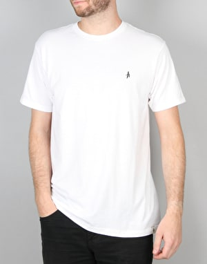 Altamont Micro Embroidery Icon T-Shirt - White