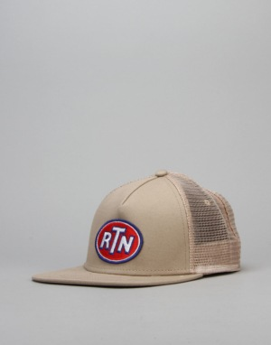 Route One Fuel Trucker Snapback Cap - Khaki