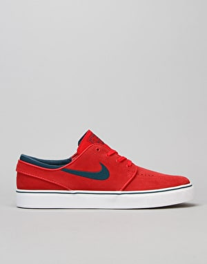 Nike SB Zoom Stefan Janoski Skate Shoes - Uni Red/Mdnght Trq-Whit-Gm