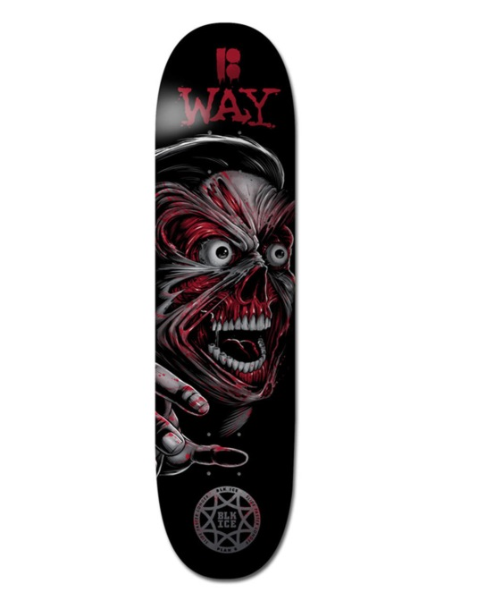 Plan B Way Terminal Velocity BLK ICE Pro Deck - 8.125""
