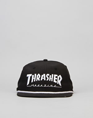 Thrasher Rope Snapback Cap - Black/White