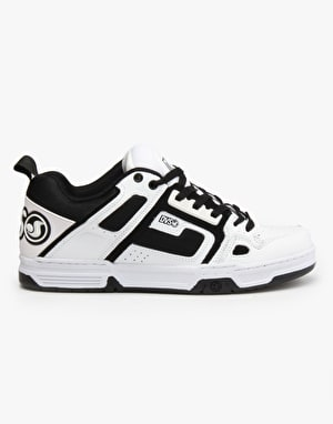 DVS Comanche Skate Shoes - White/Black Leather