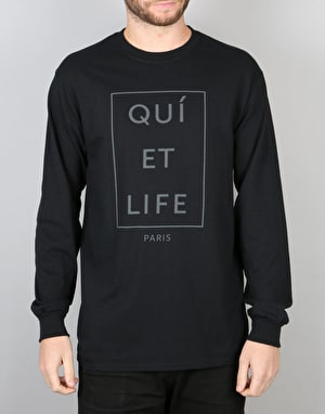The Quiet Life Paris L/S T-Shirt - Black