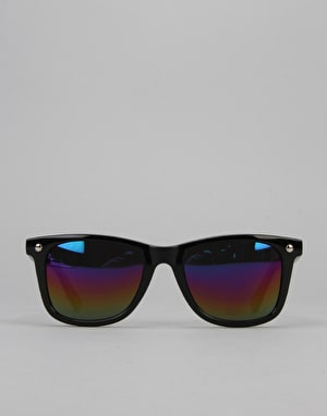Glassy Sunhater Mike Mo Sunglasses - Black/Colour Mirror