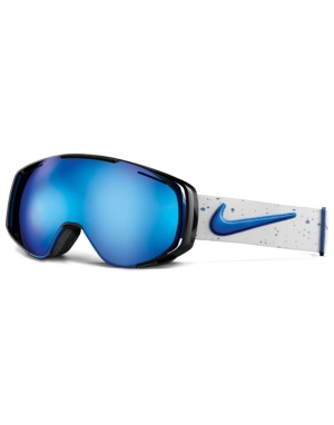 Nike SB Khyber 2016 Snowboard Goggles - Royal/White/Silver -Silver Ion