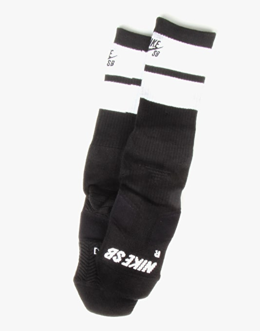 Nike SB Elite Crew Socks - Black/White