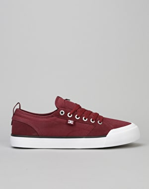 DC Evan Smith S Skate Shoes - Burgundy