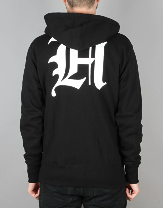The Hundreds Old H Zip Hoodie - Black