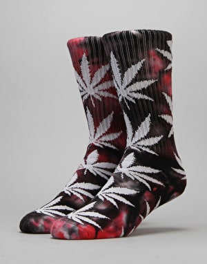 HUF x Ty Dolla $ign Plantlife Blood Wash Crew Socks - Red/Black