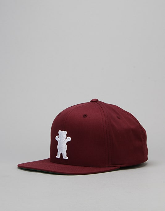 Grizzly OG Bear Snapback Cap - Burgundy