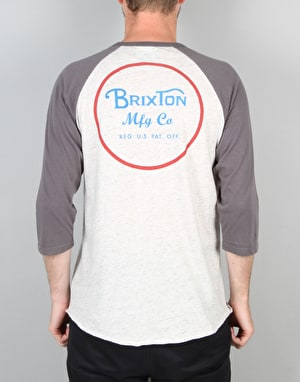 Brixton Wheeler 3/4 Slv T-Shirt - Heather Stone