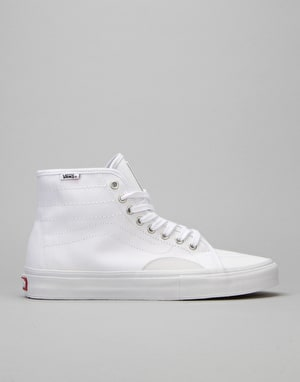 Vans AV Classic High Skate Shoes - (Herringbone) White/White