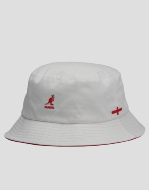 Kangol Nation Bucket Hat - UK White
