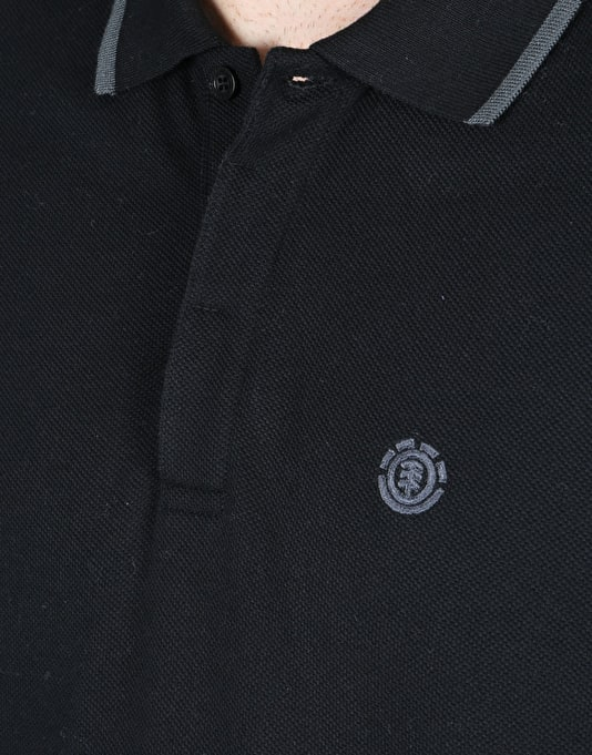 Element Parker Polo Shirt - Flint Black