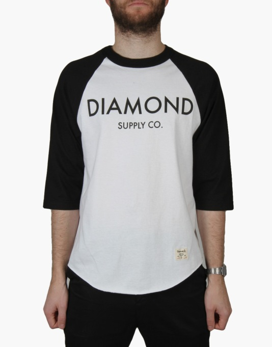 Diamond Supply Co. Classic Raglan T-Shirt - Black/White