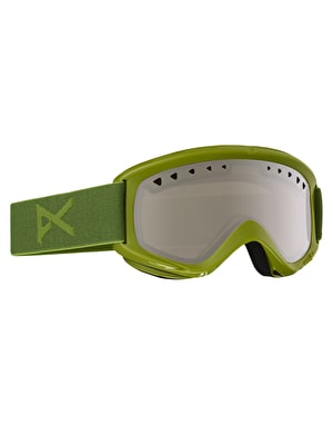 Anon Helix 2016 Snowboard Goggles - Grasshole/Silver Amber
