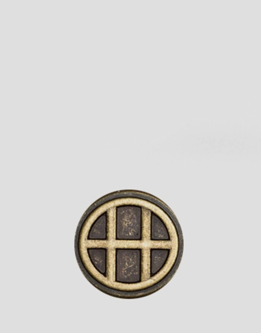 HUF Circle H Pin - Brass