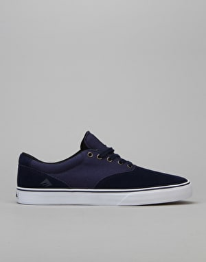 Emerica Provost Slim Vulc Skate Shoes - Navy/White
