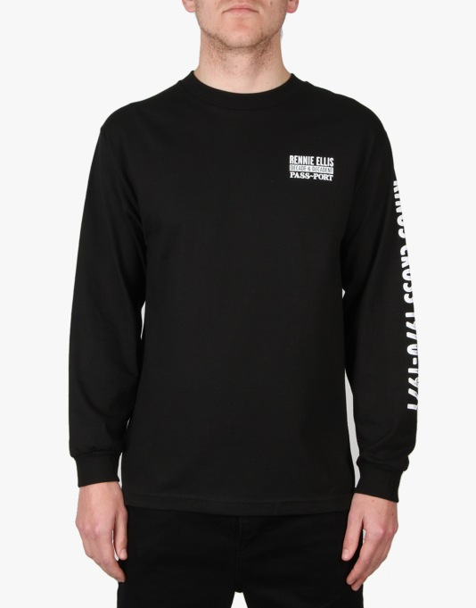 Pass Port x Rennie Ellis Kings Cross L/S T-Shirt - Black