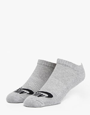 Nike SB No Show Socks 3 Pack - DK Grey Heather (Black)