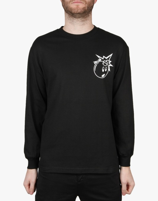 The Hundreds Simple Adam L/S T-Shirt - Black